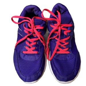 Bright Purple Sneakers with Bright Pink Laces
